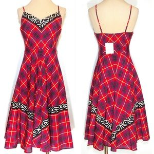 Plenty by Tracy Reese Retro Plaid Swing Dress Silk